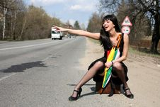 Free Hitch-hiking Royalty Free Stock Photo - 8300255