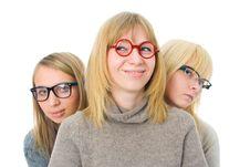 Three Attractive Girls Stock Image