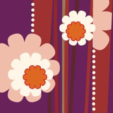 Floral Background In Retro Style Stock Photography