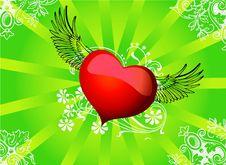 Free Vector Flying Heart Stock Photos - 8301293
