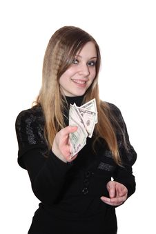 Free The Girl And Money Royalty Free Stock Photo - 8301615