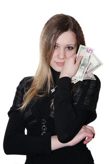 Free The Girl And Money Stock Image - 8301781
