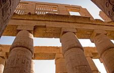 Free Columns At Karnak Temple Stock Images - 8301974
