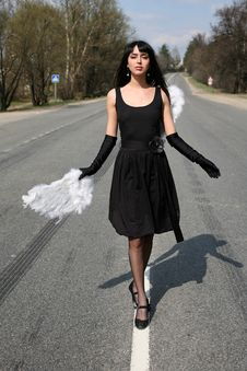 Free Angel At Road Royalty Free Stock Photo - 8302075