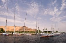 Free Boats At Aswan Royalty Free Stock Photography - 8302247