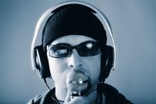 Free Man With Microphone Royalty Free Stock Image - 8302366