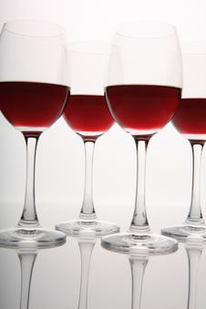 Free Wine Glasses Royalty Free Stock Photo - 8302435