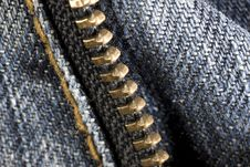 Free Blue Jeans With Zipper Royalty Free Stock Images - 8302529