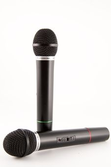 Free Microphones Royalty Free Stock Image - 8302736