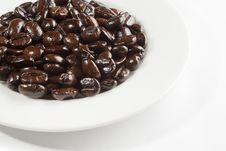 Free Plate With Coffee Beans Royalty Free Stock Image - 8303246