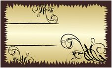 Free Gold Banner With Floral Elements Stock Photos - 8303323