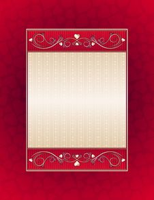 Free Red Background With Hearts Stock Images - 8303364