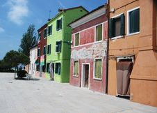 Free Colourful Houses On Burano Stock Image - 8303401