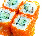 Free Sushi With Chopsticks Royalty Free Stock Photography - 8303657