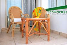 Free Terrace With Arm-chairs Royalty Free Stock Photography - 8304077