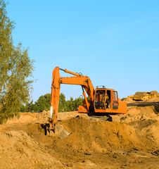 Free Excavator On Gravel Royalty Free Stock Photography - 8304287