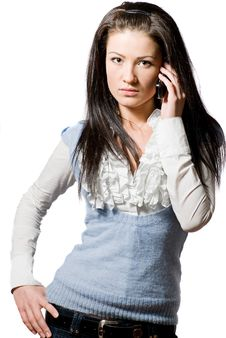 Free Young Woman Talking On The Cell-phone Royalty Free Stock Images - 8304589