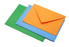 Three Envelopes Stock Photo