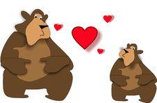 Free Beary Love Royalty Free Stock Photography - 8305127