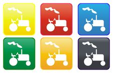 Free Web Button - Tractor Royalty Free Stock Images - 8305379