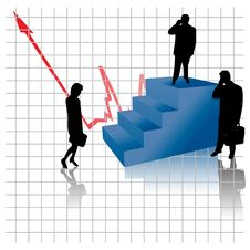 Successful Business People On Stairs Royalty Free Stock Images