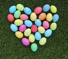 Free Easter Eggs Heart Royalty Free Stock Photo - 8305445