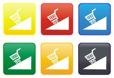 Web Button - Shopping Cart Royalty Free Stock Photos