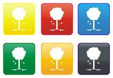 Free Tree Web Button Royalty Free Stock Photos - 8305608
