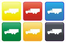 Free Truck Web Button Stock Photos - 8305753