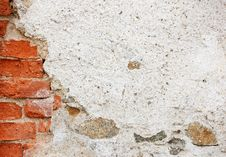 Free Old Plastered Brick Wall Stock Image - 8307311