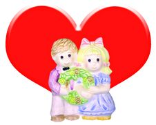 Free Couple Doll. Royalty Free Stock Photography - 8307347