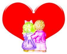 Free Couple Doll. Stock Image - 8307501