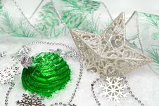 Green Festive Decoration Royalty Free Stock Images