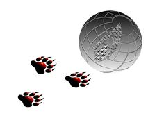 Paw And Earth Royalty Free Stock Images