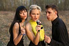 Free Singers Trio Stock Image - 8308981