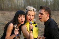 Free Singers Trio Stock Photo - 8309000