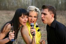 Free Singers Trio Stock Photos - 8309013