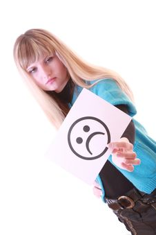 Free Girl With Sad Smile Stock Images - 8309044