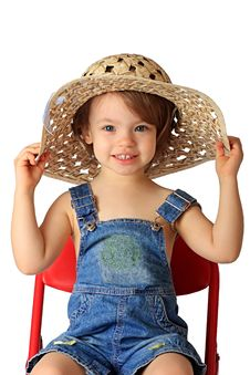 Free A Girl Is In A Hat. Royalty Free Stock Photography - 8309717