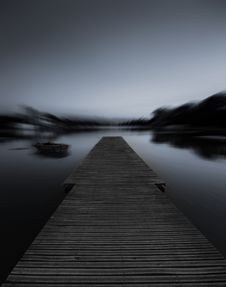 Free Grayscale Photo Of Dock Stock Photography - 83007902