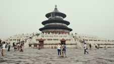 Free Tourists Outside Temple, Beijing, China Stock Image - 83008681