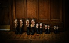 Free Black Red And Blue England Flag Print Rain Boots Stock Photos - 83008683