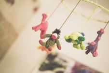 Free Baby S Knitted Mobile Royalty Free Stock Photography - 83008847