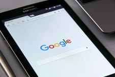 Free Black Samsung Tablet Display Google Browser On Screen Royalty Free Stock Image - 83009026
