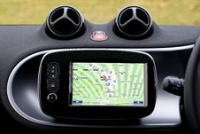 Free GPS Navigation System In Car Royalty Free Stock Photos - 83009178