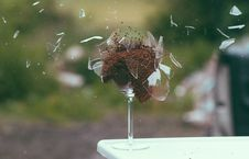 Free Exploding Glass Royalty Free Stock Images - 83010019