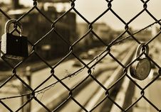 Free Fence With Locks Royalty Free Stock Image - 83010326