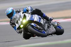 Free Blue Yamaha R1 Royalty Free Stock Image - 83010396