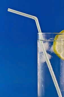 Free Drink With Lemon Stock Image - 83011221