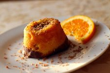 Free Orange Crumb Cake Stock Photography - 83011272